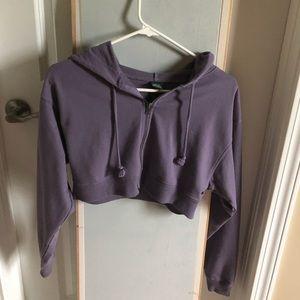 Medium Target Purple Cropped Sweatshirt
